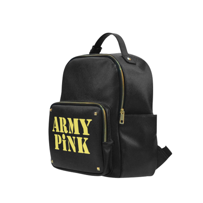 Yellow Army Pink on black Campus backpack/Small (Model 1650) for  at ARMY PINK