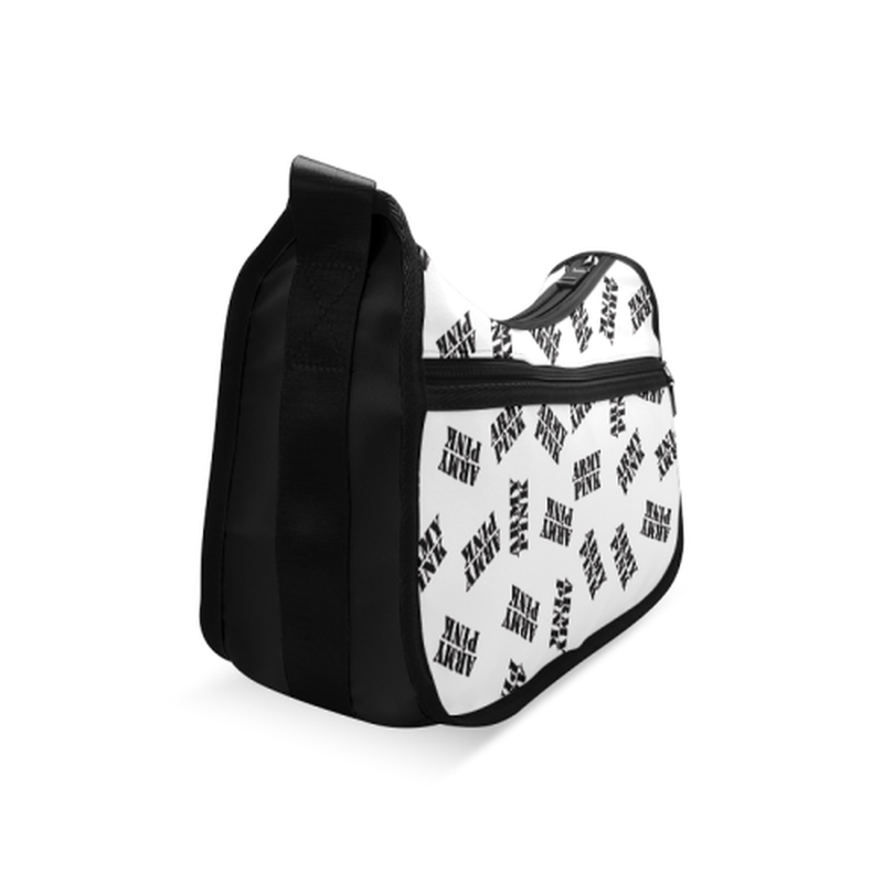 White black stamp Crossbody Bag for  at ARMY PINK