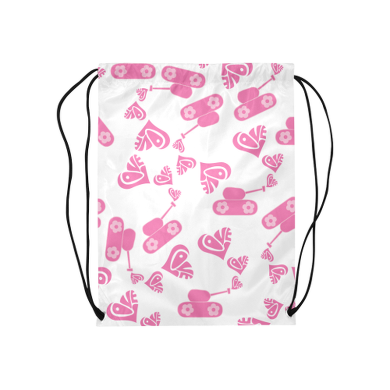 Pink love tank Drawstring Bag for  at ARMY PINK
