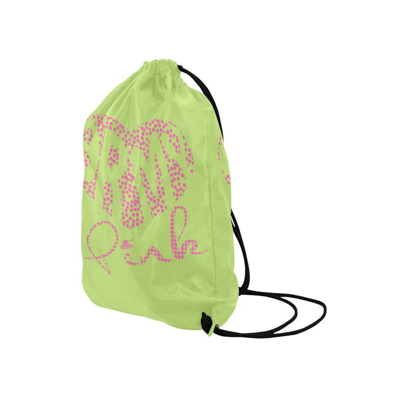 Dot heart green Drawstring Bag for  at ARMY PINK