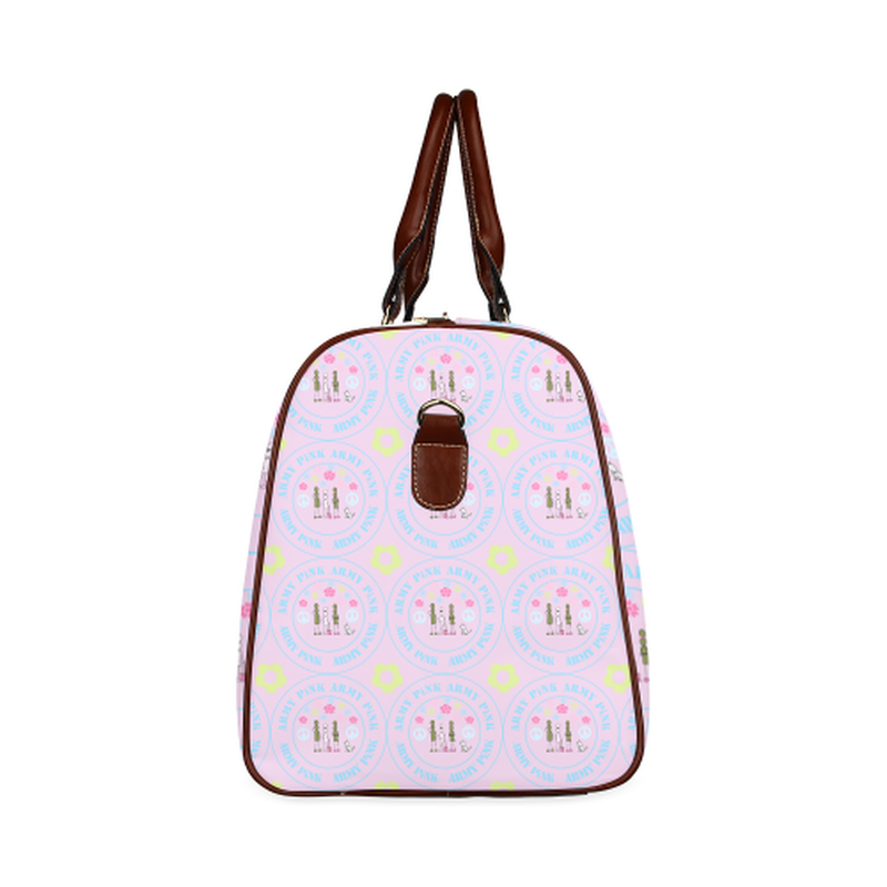 large travel marchers round aop on violet Waterproof Travel Bag/Large (Model 1639) for  at ARMY PINK