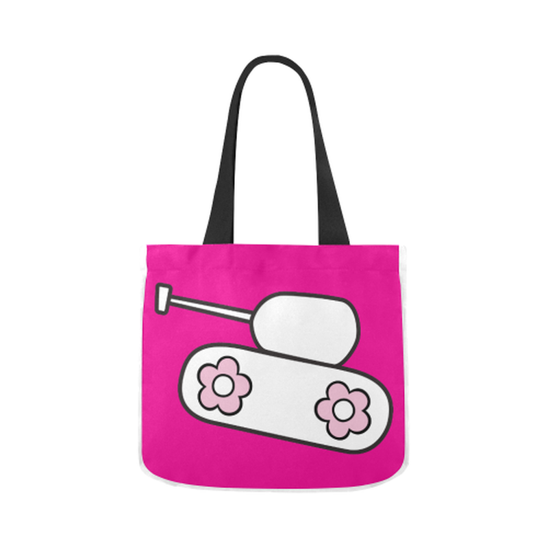 Pink tank Canvas Tote Bag for  at ARMY PINK