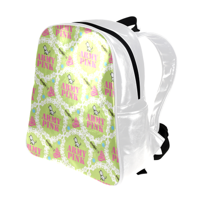White wreath on green Multi-Pockets Backpack (Model 1636) for  at ARMY PINK