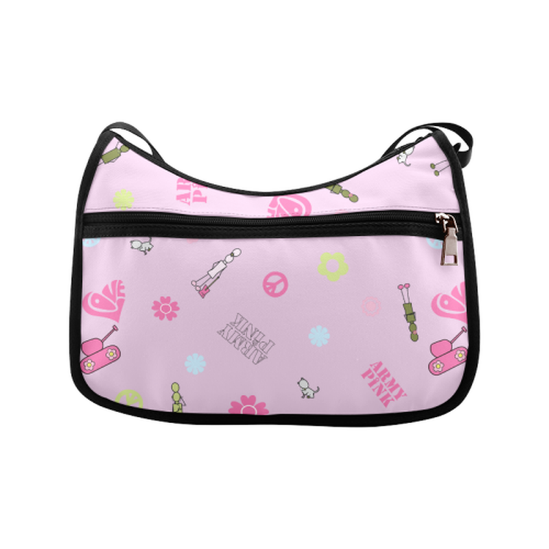 Logo print on violet Crossbody Bags (Model 1616) for  at ARMY PINK