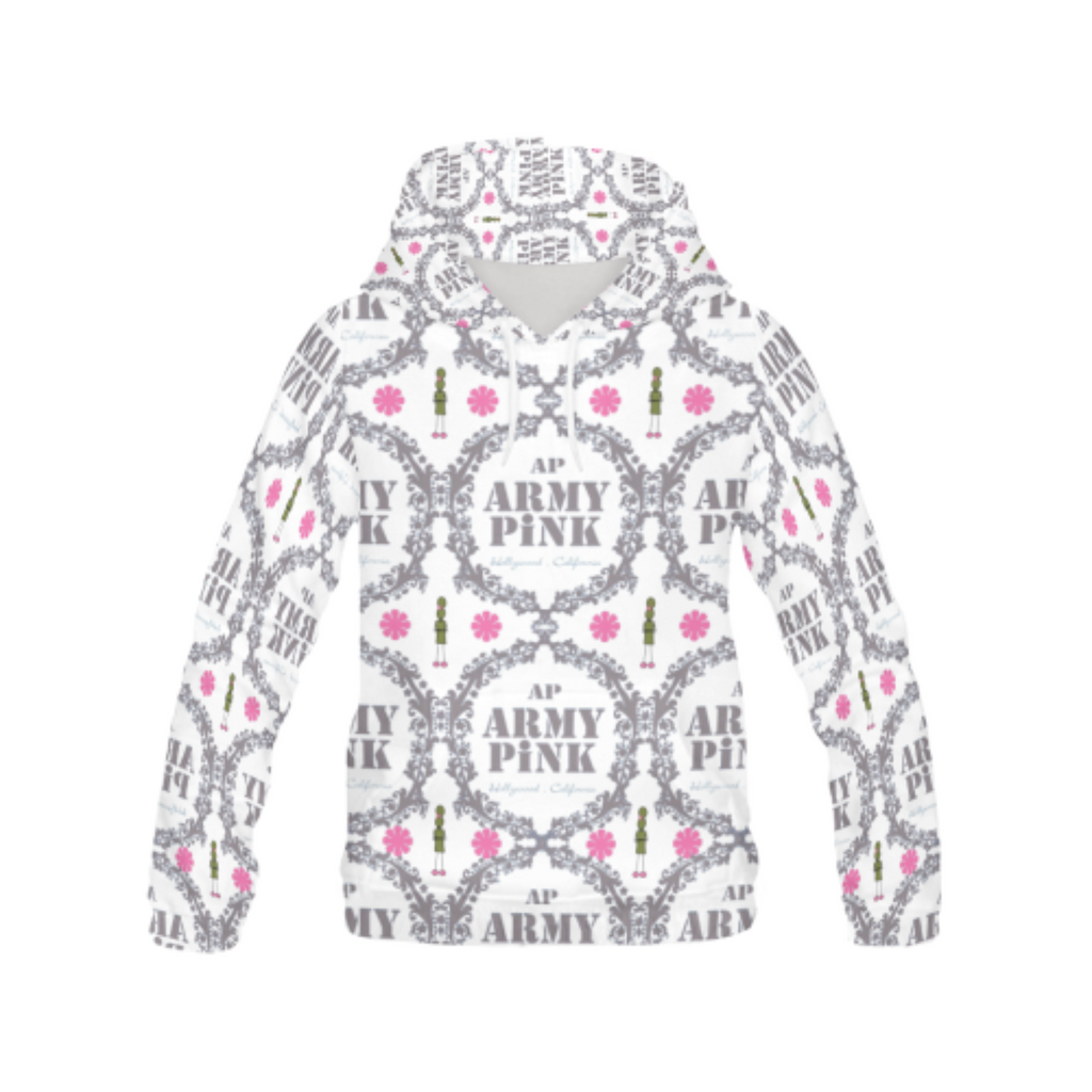 White wreath All Over Print Hoodie for 40.00 at ARMY PINK