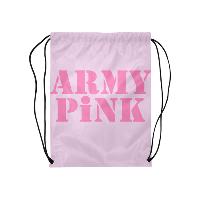 Pink Army Pink Drawstring Bag ${product-type) ${shop-name)