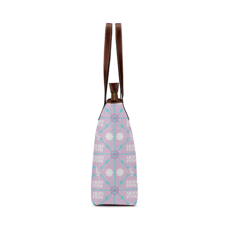 Diamond pattern on violet Shoulder Tote Bag (Model 1646) for  at ARMY PINK
