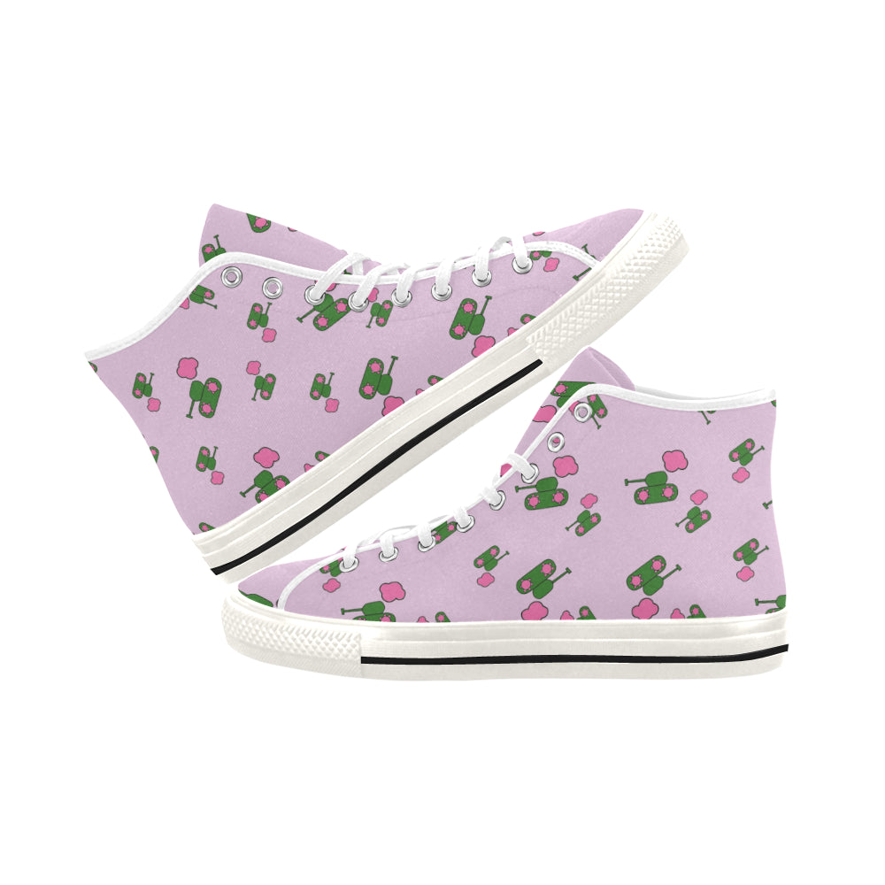 Pink Tank Hi Top Canvas Shoes for 49.00 at ARMY PINK