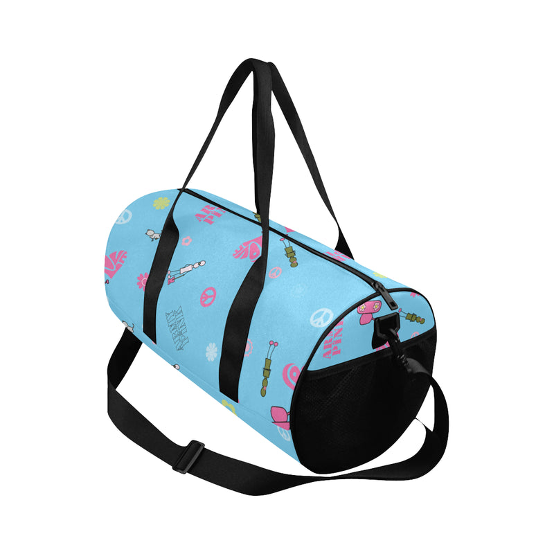 Blue Logo Print Duffle Bag for  at ARMY PINK