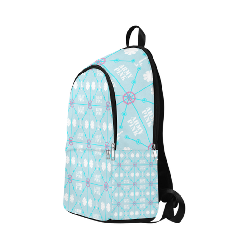 Diamond logo print on blue Fabric Backpack for Adult (Model 1659) for  at ARMY PINK