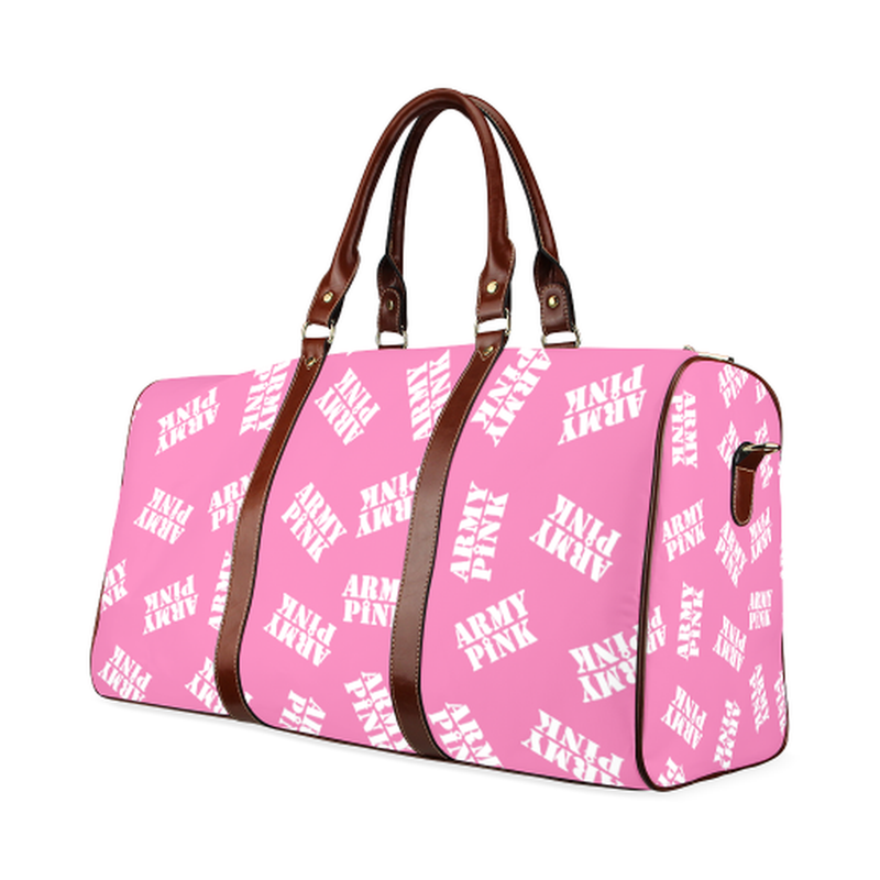 Small pink stamp Travel Bag for  at ARMY PINK