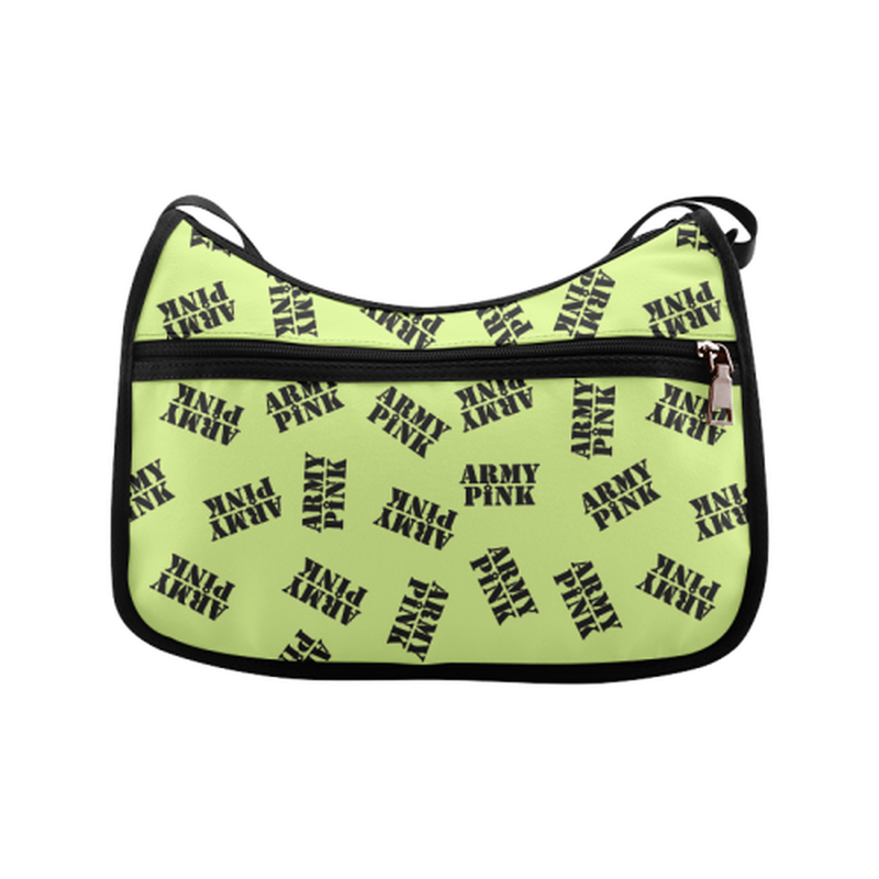 Green black stamp Crossbody Bag for  at ARMY PINK