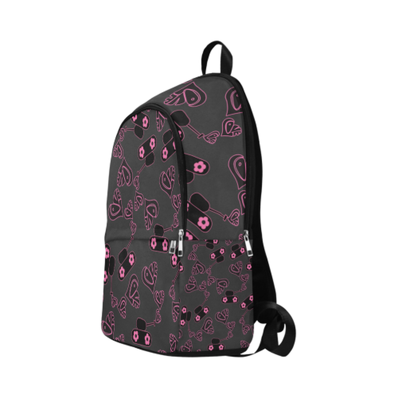 Black love tanks on black Fabric Backpack for Adult (Model 1659) for  at ARMY PINK