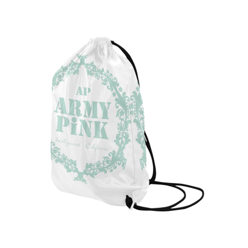 "Mint wreath Medium Drawstring Bag Model 1604 (Twin Sides) 13.8""(W) * 18.1""(H) for  at ARMY PINK"