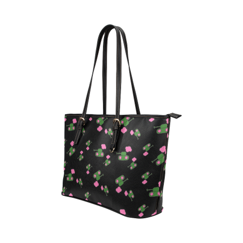 Black tank cloud leather Tote Bag ${product-type) ${shop-name)