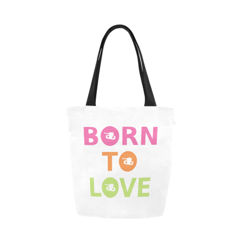 Born to love Canvas Tote Bag for  at ARMY PINK