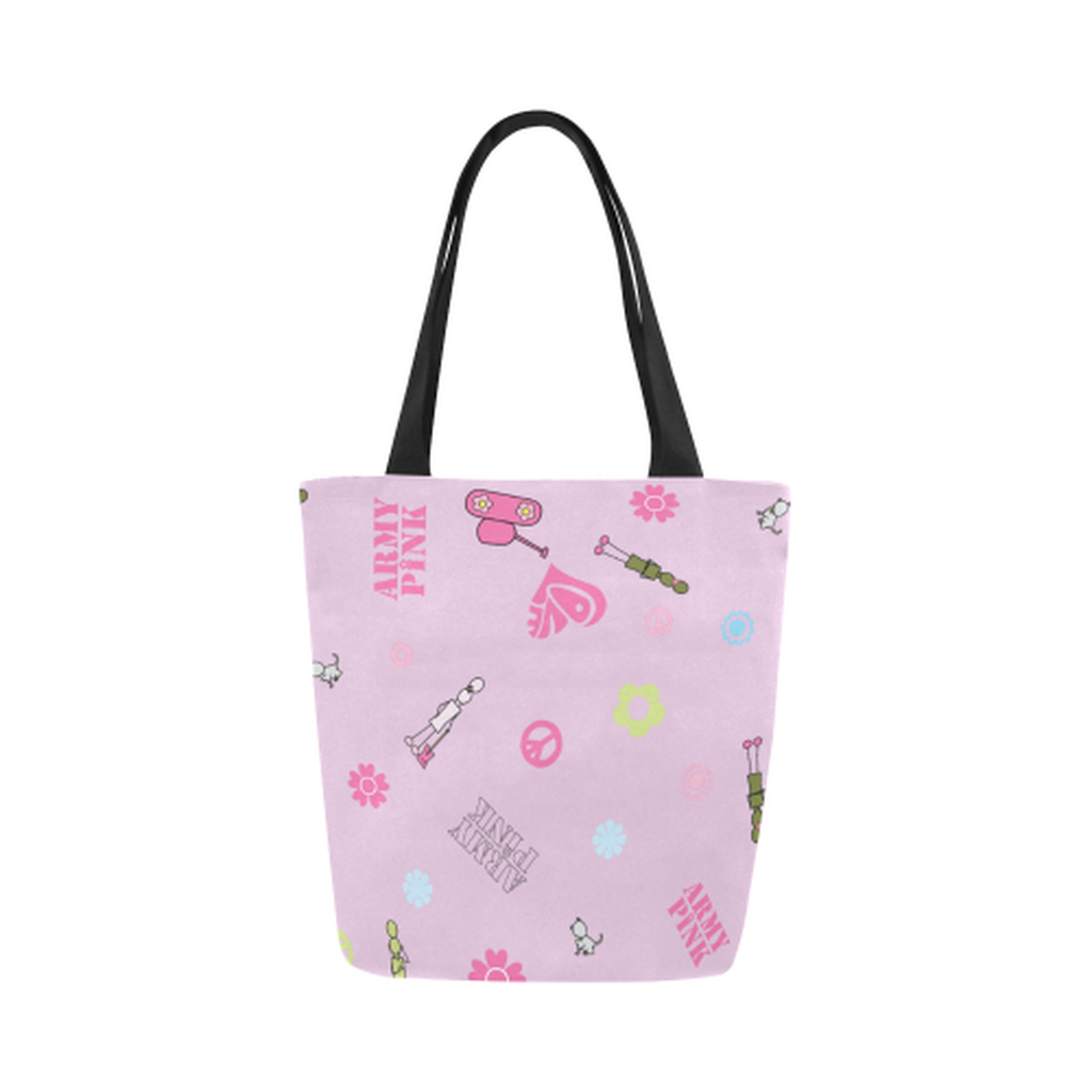 Pink logo Canvas Tote Bag ${product-type) ${shop-name)
