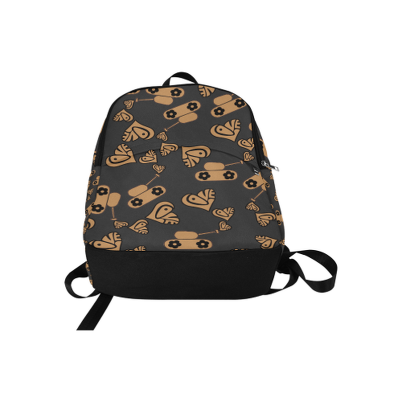 Tan love tanks on black Fabric Backpack for Adult (Model 1659) for  at ARMY PINK