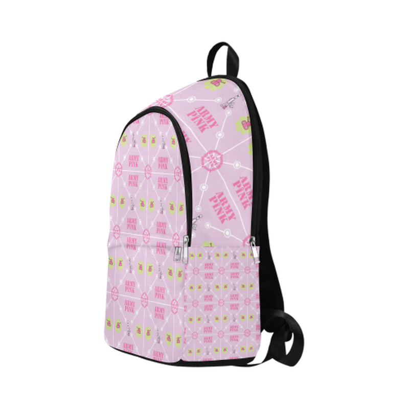 Logo diamond pattern on violet Fabric Backpack for Adult (Model 1659) for  at ARMY PINK