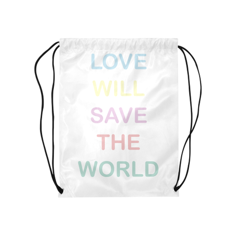 Pastel love saves Drawstring Bag for  at ARMY PINK