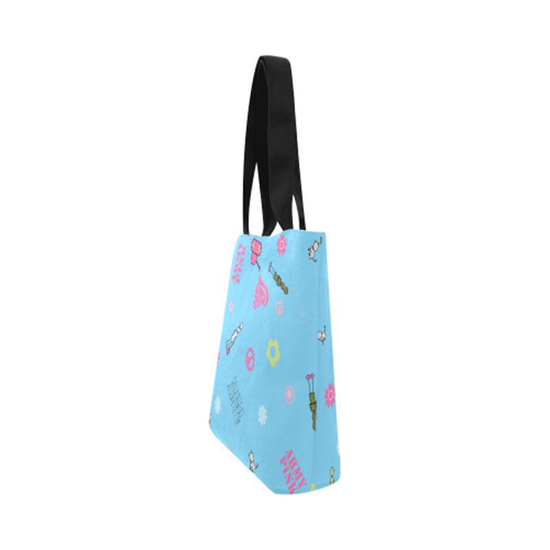 Blue logo Canvas Tote Bag for  at ARMY PINK