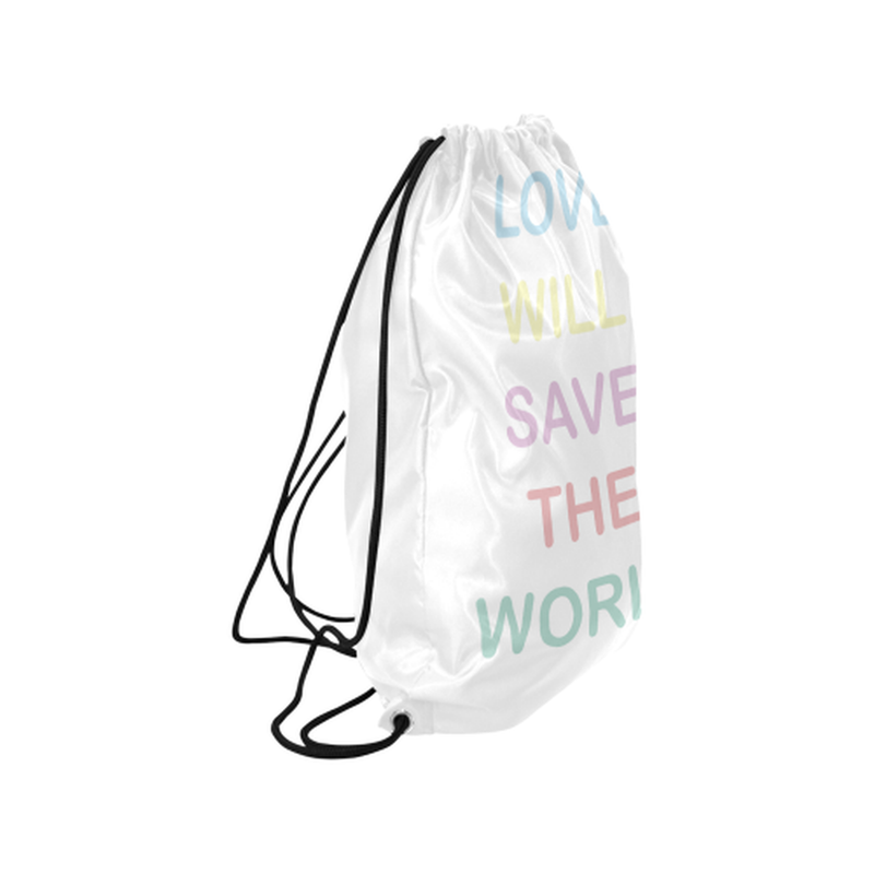 Pastel love saves Drawstring Bag ${product-type) ${shop-name)
