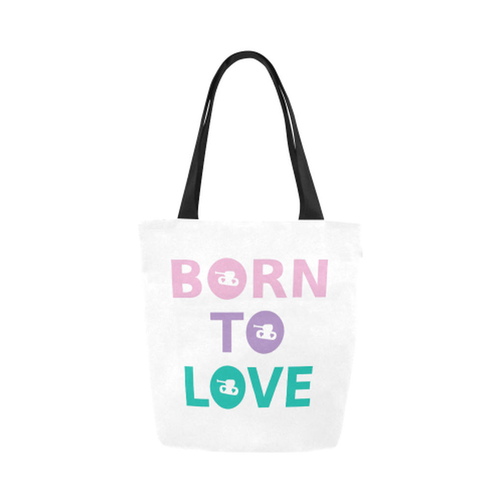 Born to love Canvas Tote Bag ${product-type) ${shop-name)