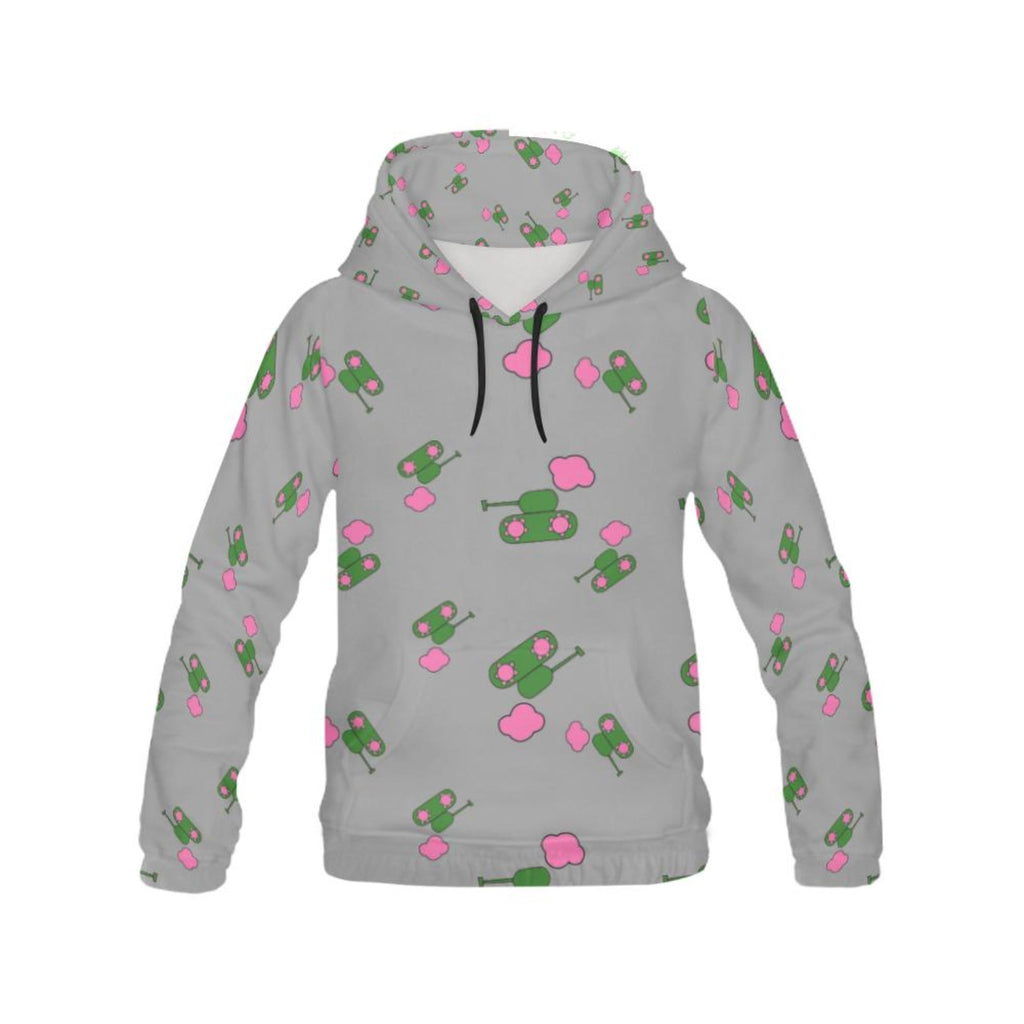 Grey tank and cloud All Over Print Hoodie for 40.00 at ARMY PINK
