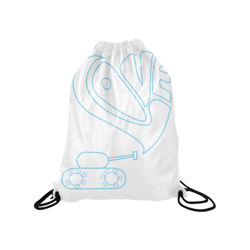 Blue love tank Drawstring Bag for  at ARMY PINK