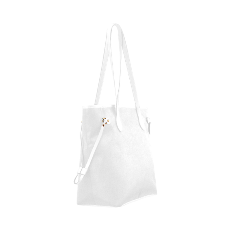 Black dot heart on white Clover Canvas Tote Bag (Model 1661) for  at ARMY PINK