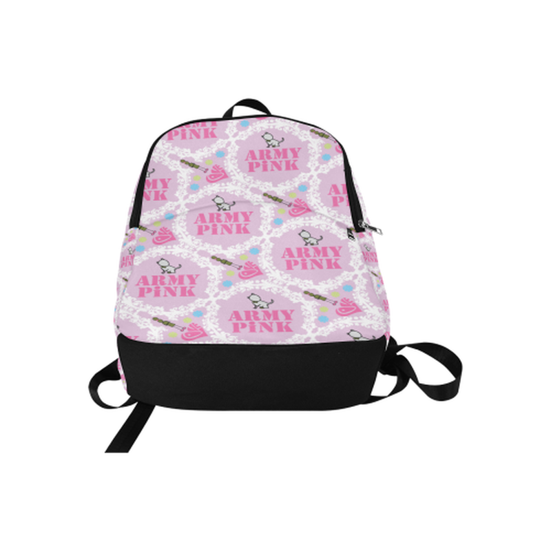 backpack white wreath on violet Fabric Backpack for Adult (Model 1659) for  at ARMY PINK