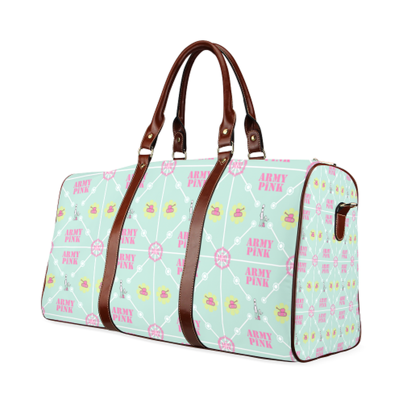 large travel diamond marcher on mint Waterproof Travel Bag/Large (Model 1639) for  at ARMY PINK
