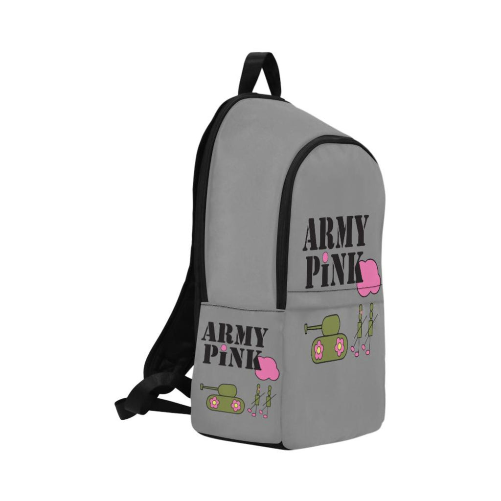 Grey logo Fabric Backpack for  at ARMY PINK