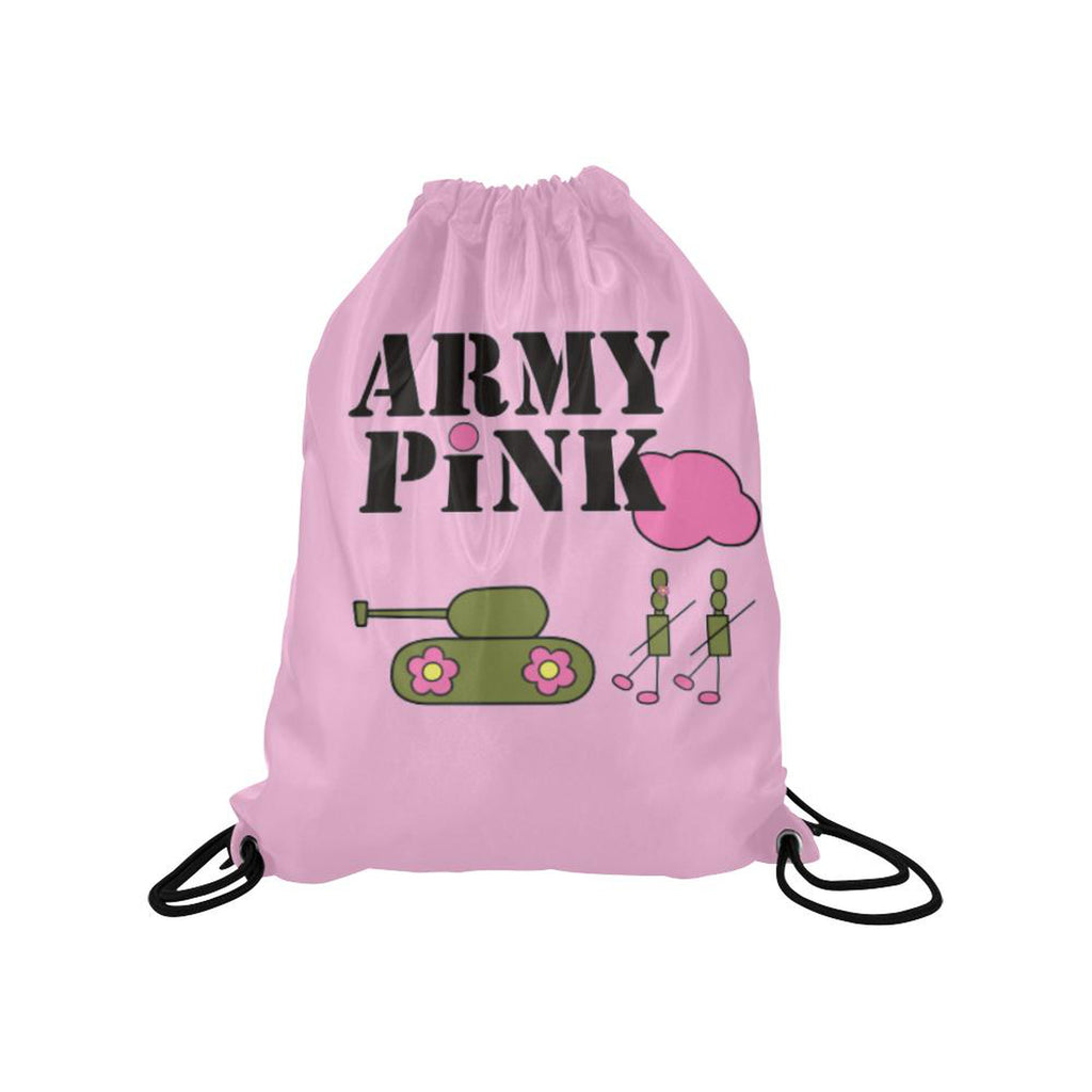 Pink logo Drawstring Bag for  at ARMY PINK