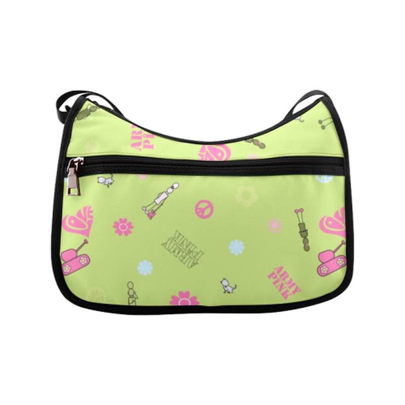 Logo print on green Crossbody Bags (Model 1616) ${product-type) ${shop-name)