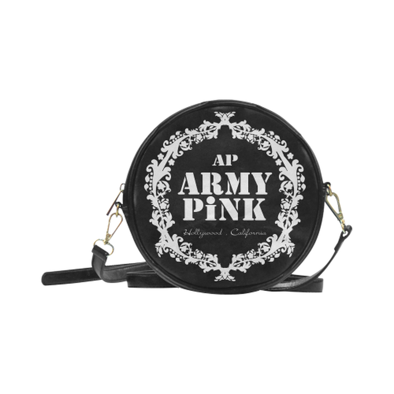sling white wreath Round Sling Bag (Model 1647) for  at ARMY PINK
