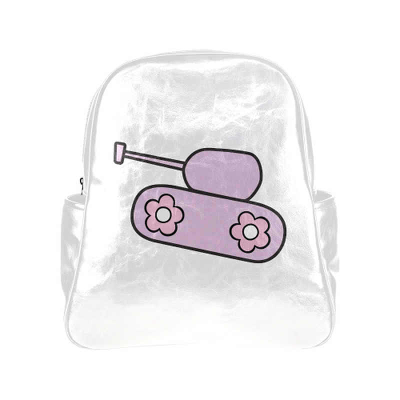 Lavender tank on white Multi-Pockets Backpack (Model 1636) ${product-type) ${shop-name)