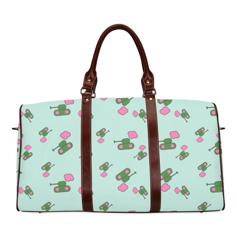 Small mint tank cloud Travel Bag for  at ARMY PINK