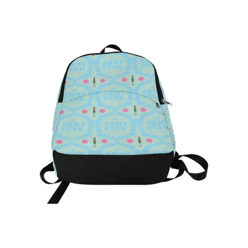 Blue wreath print on mint Fabric Backpack for Adult (Model 1659) for  at ARMY PINK