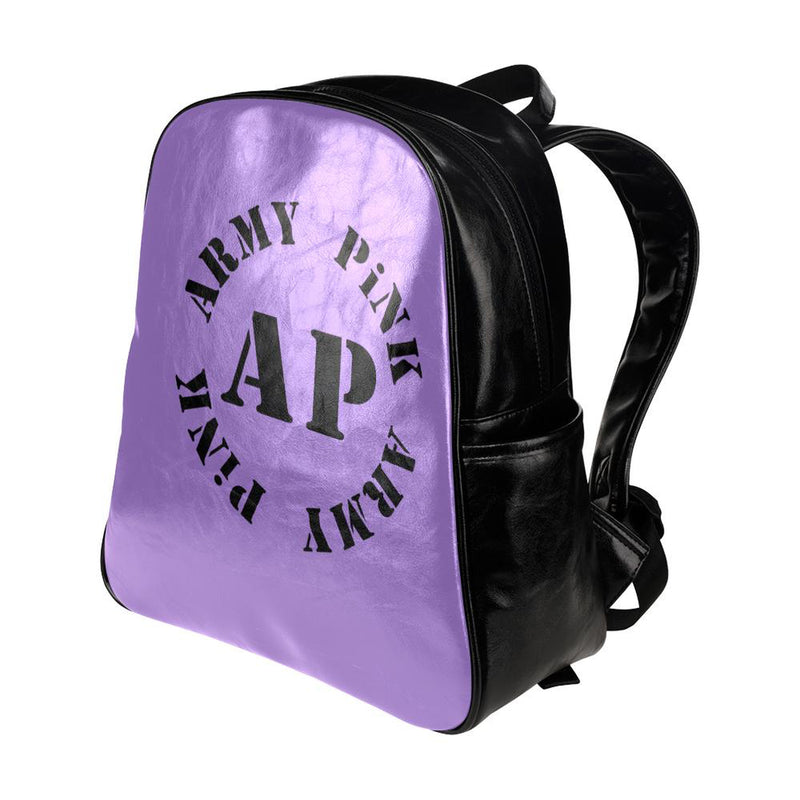 Round logo on purple for  at ARMY PINK