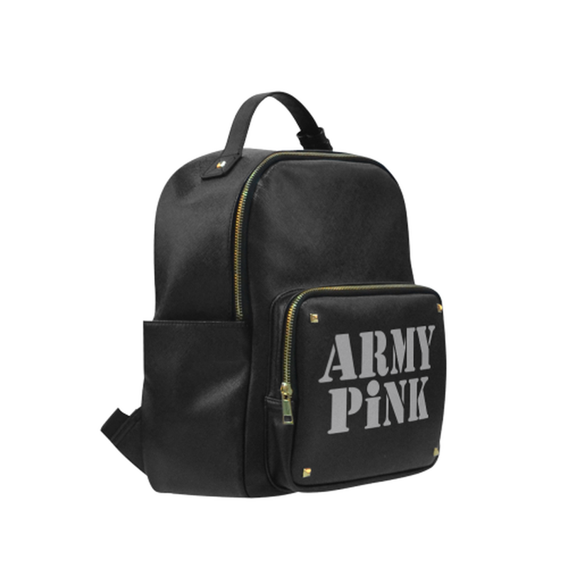 Gray Army Pink on black Campus backpack/Small (Model 1650) for  at ARMY PINK