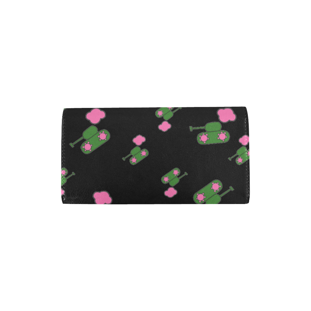 Tanks and clouds black Trifold Wallet for  at ARMY PINK