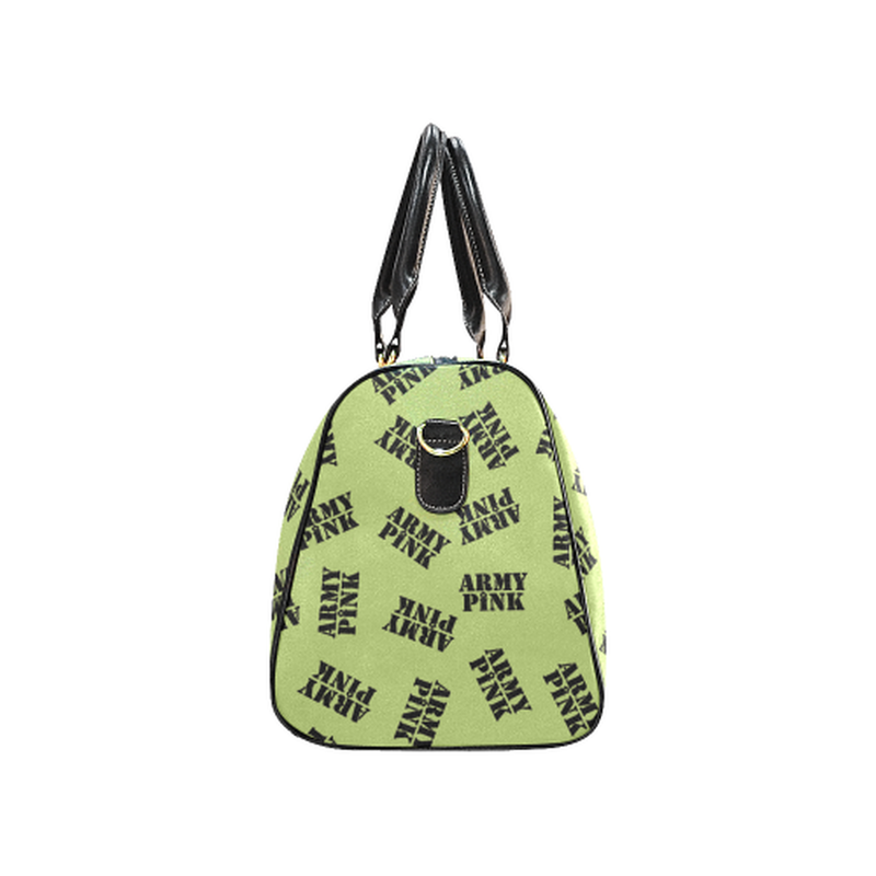Small green black stamp Travel Bag for  at ARMY PINK