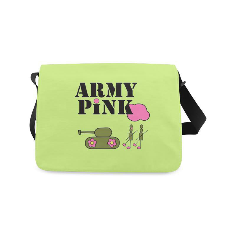 Logo on green for  at ARMY PINK