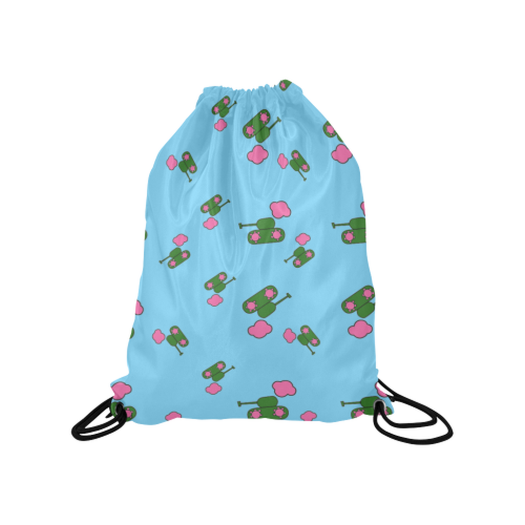 Blue tank cloud Drawstring Bag for  at ARMY PINK