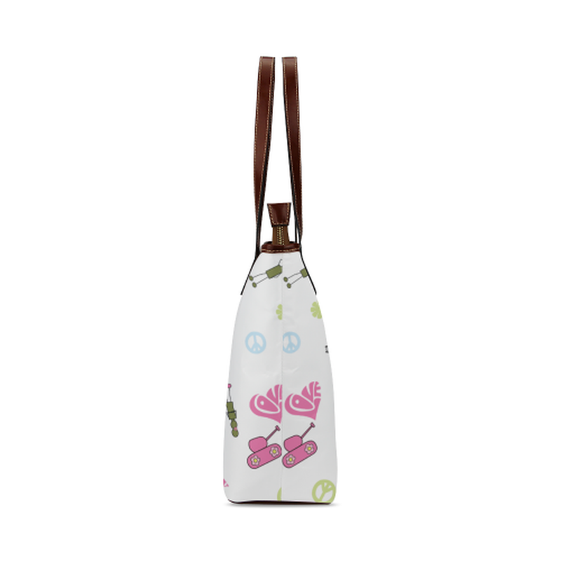 White logo Tote Bag for  at ARMY PINK