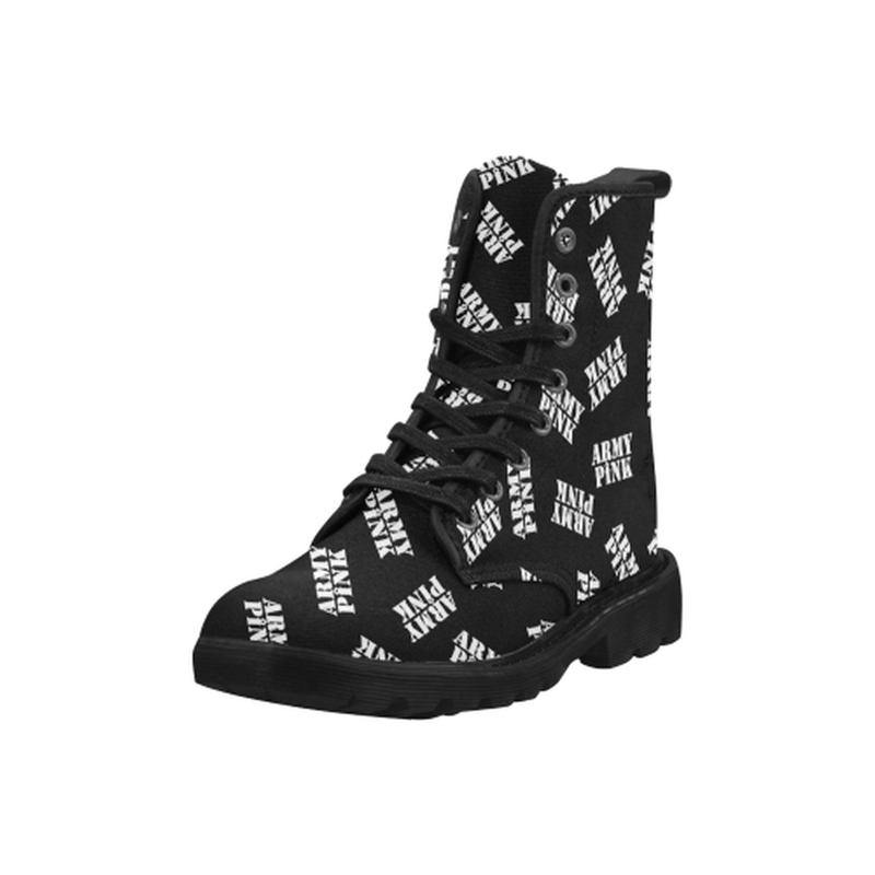 White stamps black Boots for 60.00 at ARMY PINK