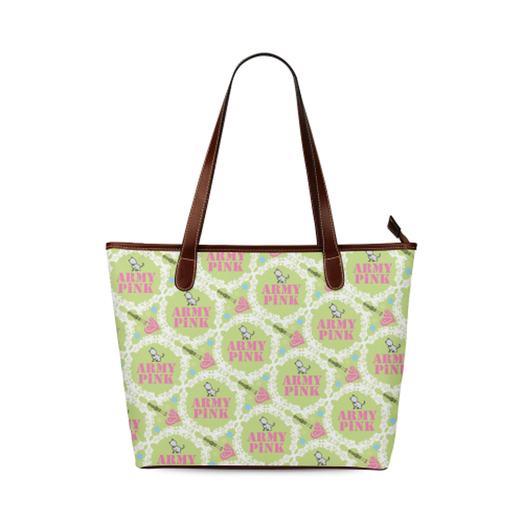 Green white wreath Tote Bag for  at ARMY PINK