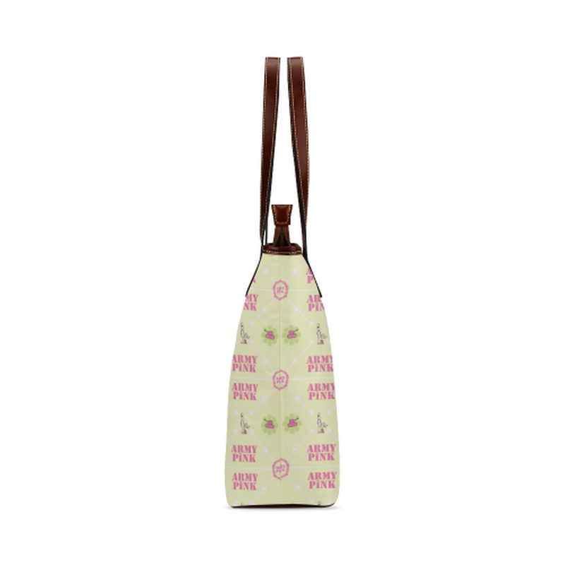 Diamond logo pattern on yellow Shoulder Tote Bag (Model 1646) for  at ARMY PINK