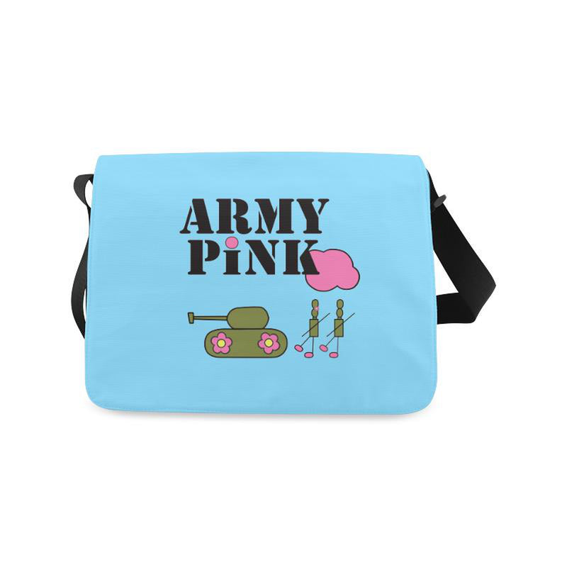 Logo on blue for  at ARMY PINK